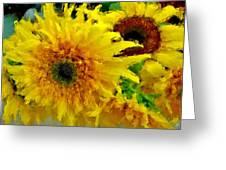 Sunflowers - Light And Dark Greeting Card