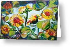 Sunflowers 3 Greeting Card