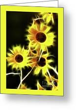 Sunflowers-4955-fractal Greeting Card
