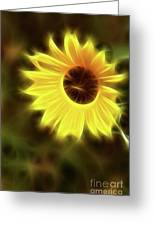 Sunflowers-4986-fractal Greeting Card