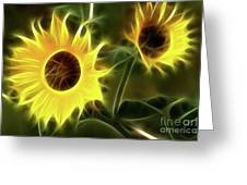 Sunflowers-5052-fractal Greeting Card