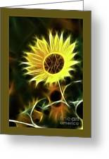 Sunflowers-5200-fractal Greeting Card