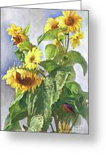 Sunflowers After The Rain Greeting Card