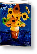 Sunflowers After Vincent Van Gogh Greeting Card
