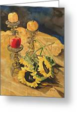 Sunflowers And Apples Greeting Card