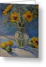 Sunflowers And Citrus Greeting Card