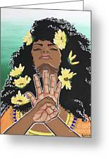 Sunflowers And Dashiki Greeting Card