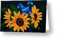 Sunflowers And Delphinium Greeting Card