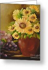 Sunflowers And Grapes Greeting Card