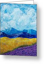 Sunflowers And Lavender In Provence Greeting Card