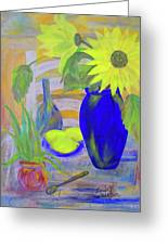 Sunflowers And Lemons Greeting Card
