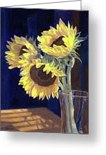 Sunflowers And Light Greeting Card