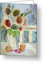 Sunflowers And Peaches Greeting Card