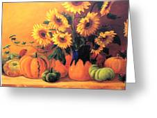 Sunflowers And Squash Greeting Card