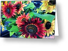 Sunflowers At A Fair Greeting Card