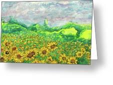 Sunflowers At Lop Burri Greeting Card
