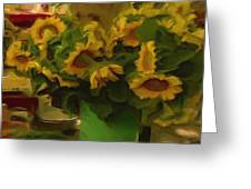 Sunflowers At The Market Greeting Card