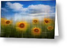 Sunflowers Dreamscape Greeting Card