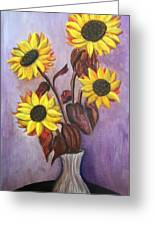 Sunflowers For My Daughter Greeting Card