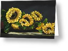 Sunflowers From The Garden Greeting Card