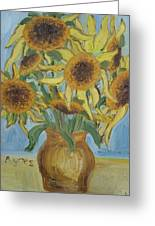 Sunflowers II. Greeting Card
