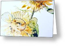 Sunflowers II Greeting Card by Monique Faella