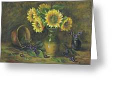 Sunflowers Greeting Card by Katalin Luczay