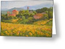 Sunflowers Of Tuscany Greeting Card