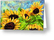 Sunflowers On Holiday Greeting Card