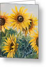 Sunflowers Part 2 Greeting Card
