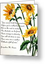 Sunflowers  Poem Greeting Card
