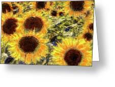 Sunflowers Summer Van Gogh Greeting Card