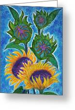 sunflowers under Puglia's sun Greeting Card