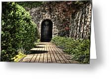 Sunken Garden Doorway Greeting Card
