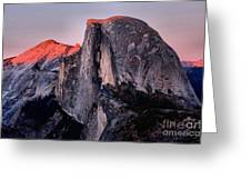 Sunkiss On Half Dome Greeting Card