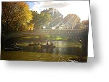 Sunlight And Boats - Central Park -  New York City Greeting Card