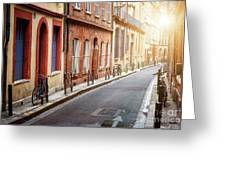Sunlight In Toulouse Greeting Card
