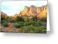 Sunlight On Sedona Rocks Greeting Card