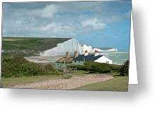 Sunlight On The Seven Sisters Greeting Card