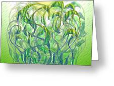 Sunlight On Wet Grass Greeting Card