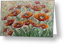 Sunlight Poppies Greeting Card