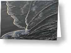 Sunlit Beach Wave Greeting Card