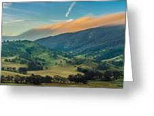 Sunlit Clouds On A Ridge Greeting Card