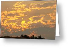 Sunlit Clouds Sunset Art Prints Gifts Orange Yellow Sunsets Baslee Troutman Greeting Card