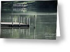 Sunlit Dock Greeting Card