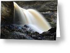 Sunlit Falls Greeting Card