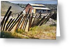 Sunlit Fence Greeting Card