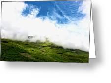 Sunlit Hillside Greeting Card