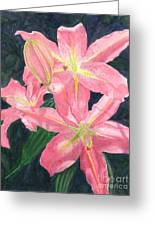 Sunlit Lilies Greeting Card
