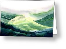 Sunlit Mountain Greeting Card
